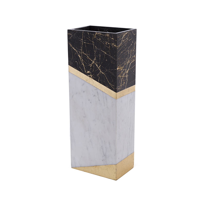 Alex Mint Chimney 12x7.4cm Marble Vase by Alexia Mintsouli