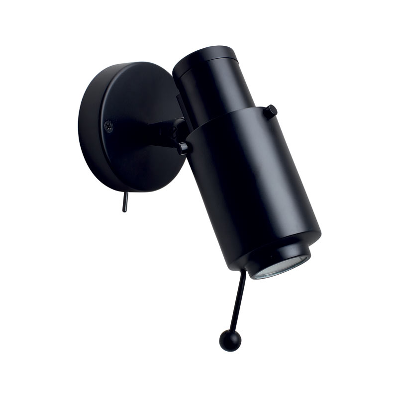DCW Editions Biny Spot Led Wall Lamp with Matt Black Body by Jacques Biny