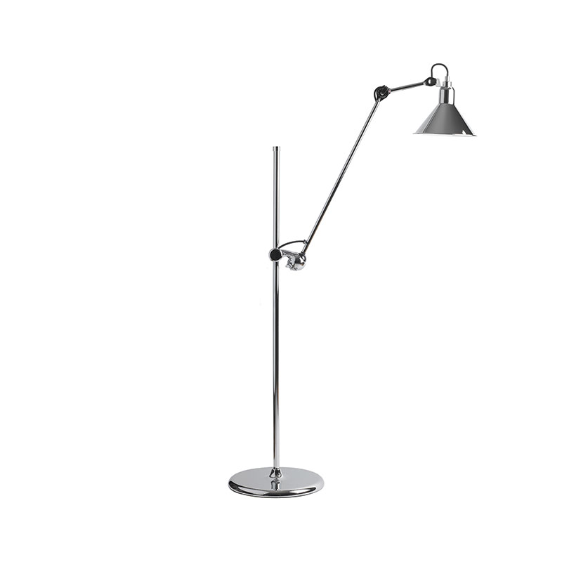 DCW Editions Lampe Gras N215 Floor Lamp with Conical Shade by Bernard-Albin Gras