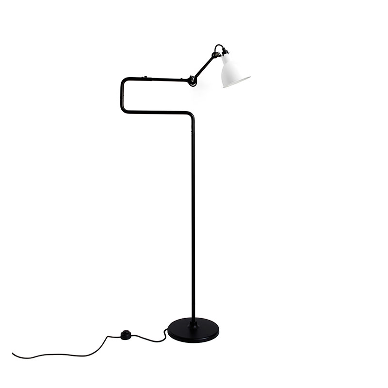 DCW Editions Lampe Gras N411 Floor Lamp with Round Shade by Bernard-Albin Gras