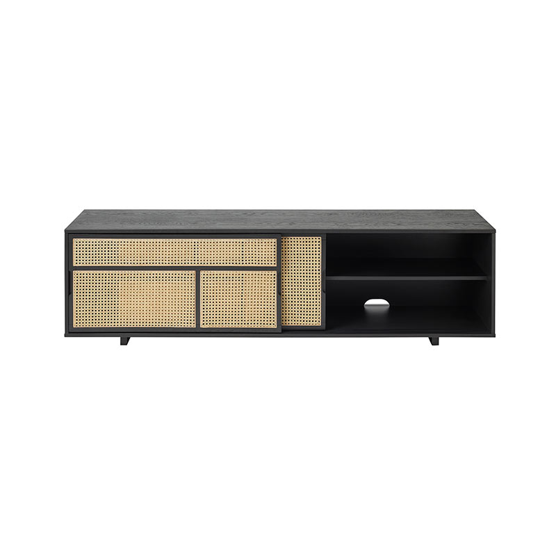 Design House Stockholm Air Low Sideboard by Mathieu Gustafsson Black 02