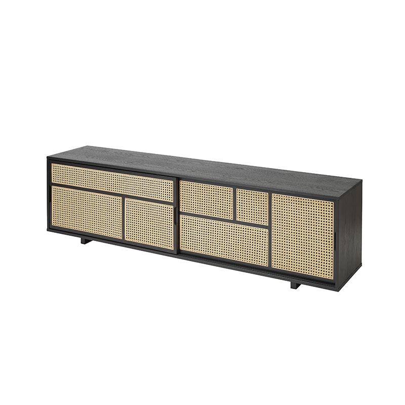 Design House Stockholm Air Low Sideboard by Mathieu Gustafsson Black 03