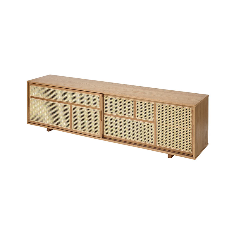 Design House Stockholm Air Low Sideboard by Mathieu Gustafsson Oak 03
