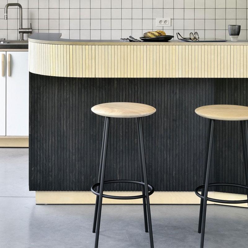 Ethnicraft Baretto Bar Stool by Sascha Sartory 04