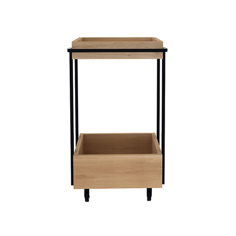 Ethnicraft Kompagnon Bar Cart by Sascha Sartory