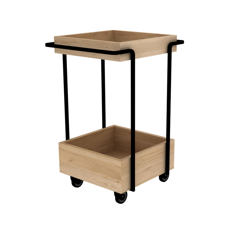 Ethnicraft Kompagnon Bar Cart by Sascha Sartory 03