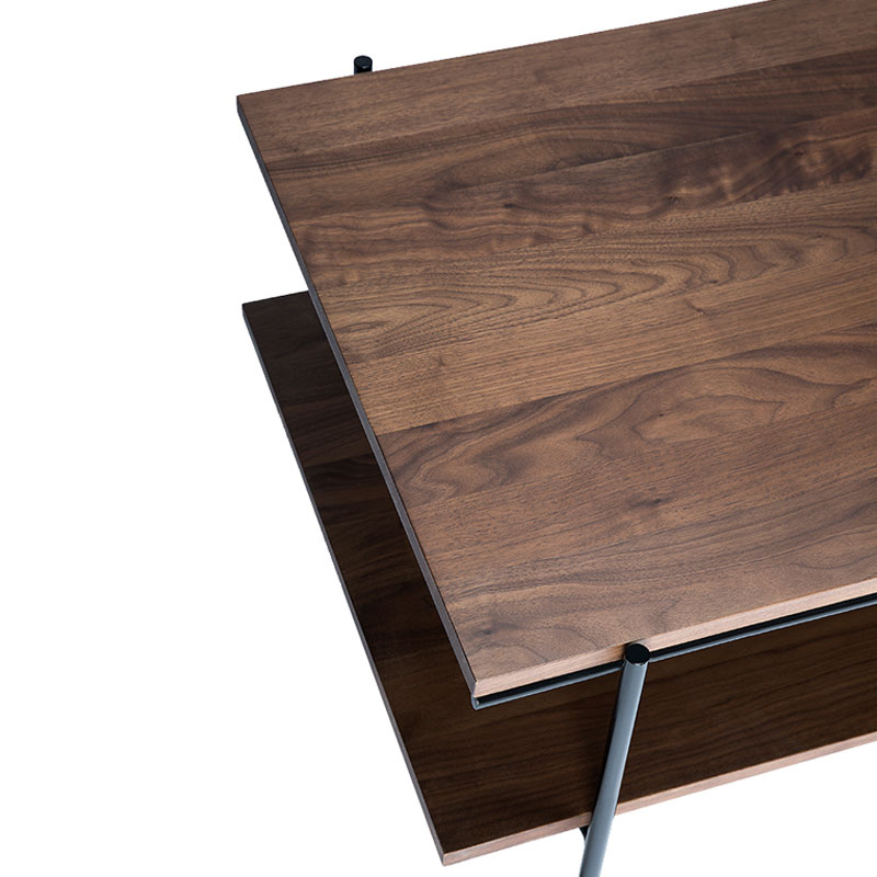 Ethnicraft Rise Coffee Table by Alain van Havre Walnut 03