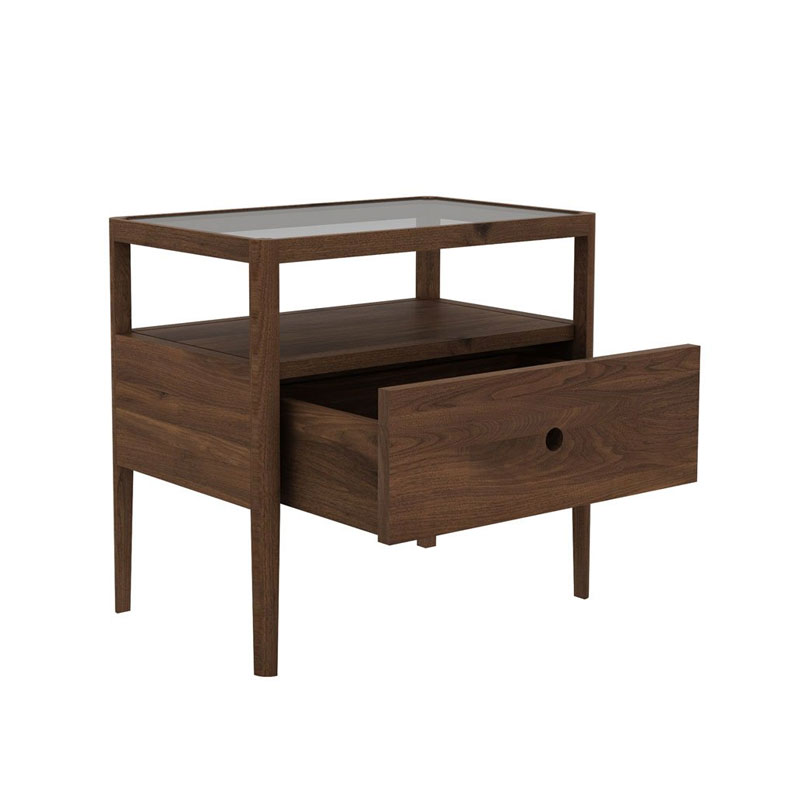 Ethnicraft Spindle Bedside Table by Nathan Yong Walnut 02