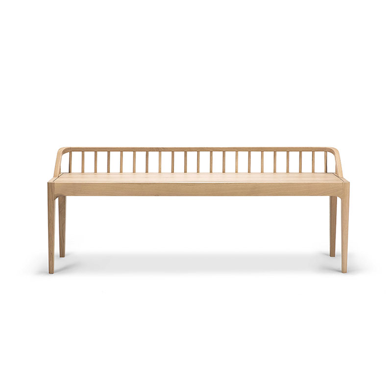 Ethnicraft Spindle Bench by Nathan Yong Olson and Baker - Designer & Contemporary Sofas, Furniture - Olson and Baker showcases original designs from authentic, designer brands. Buy contemporary furniture, lighting, storage, sofas & chairs at Olson + Baker.