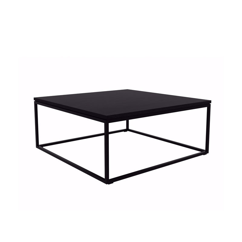 Ethnicraft Thin Coffee Table in Black by Alain van Havre