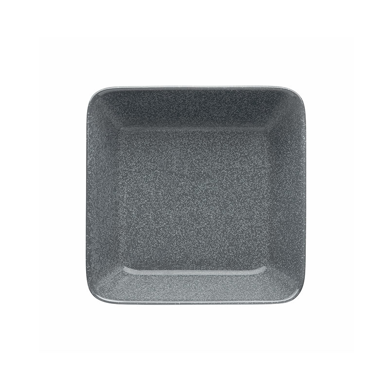 Iittala Teema 16 x 16cm Square Plate - Set of Two - Dotted Grey by Kaj Franck