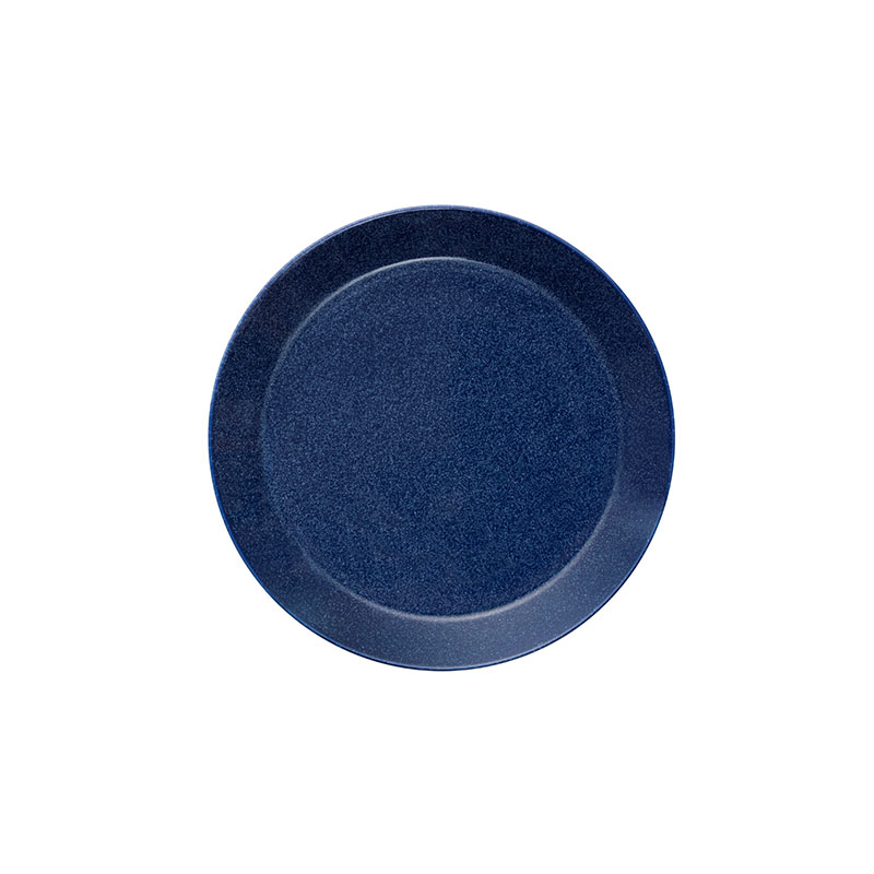 Iittala Teema 17cm Flat Plate - Set of Six - Dotted Blue by Kaj Franck
