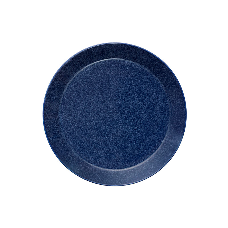 Iittala Teema 21cm Flat Plate - Set of Six - Dotted Blue by Kaj Franck
