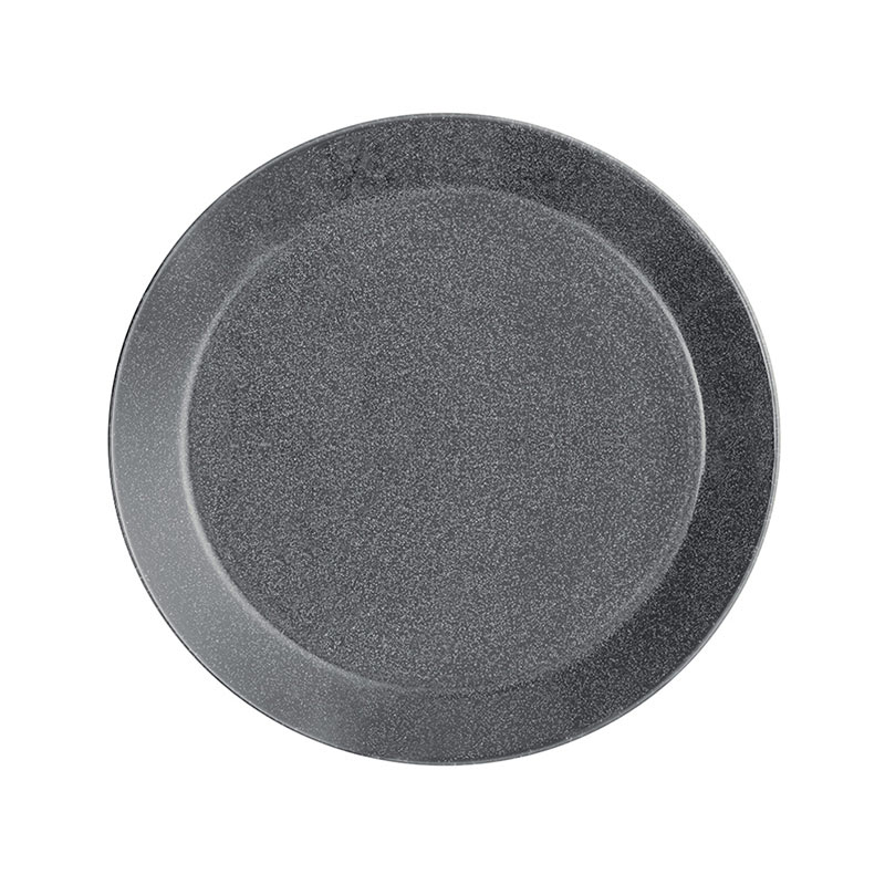 Iittala Teema 26cm Flat Plate - Set of Six - Dotted Grey by Kaj Franck