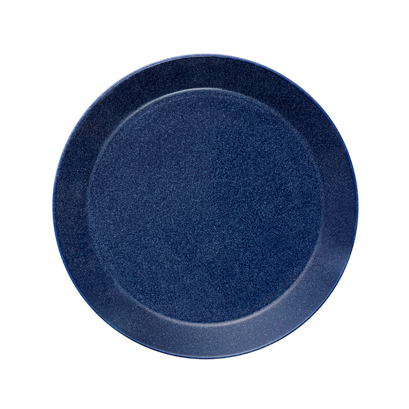 Iittala Teema 26cm Flat Plate - Set of Six - Dotted Blue by Kaj Franck