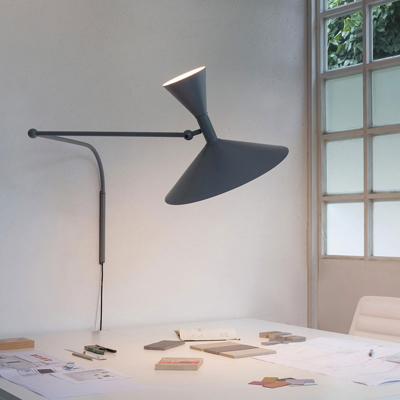 Nemo Lampe De Marseille Wall Lamp by Le Corbusier life 1 Olson and Baker - Designer & Contemporary Sofas, Furniture - Olson and Baker showcases original designs from authentic, designer brands. Buy contemporary furniture, lighting, storage, sofas & chairs at Olson + Baker.