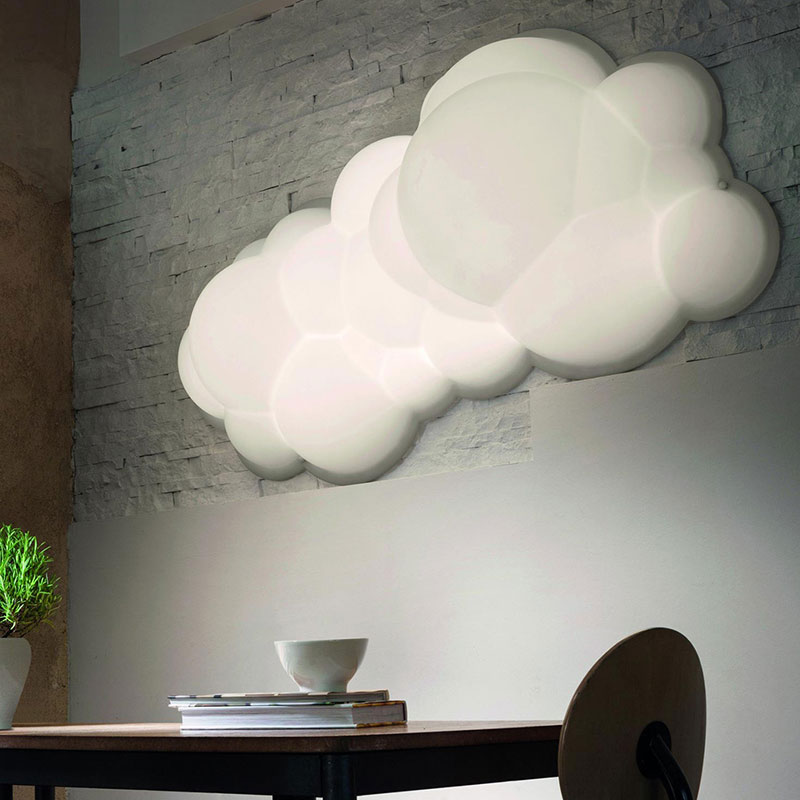 Nemo Nuvola Wall or Ceiling Lamp by M. Bellini life 2 Olson and Baker - Designer & Contemporary Sofas, Furniture - Olson and Baker showcases original designs from authentic, designer brands. Buy contemporary furniture, lighting, storage, sofas & chairs at Olson + Baker.
