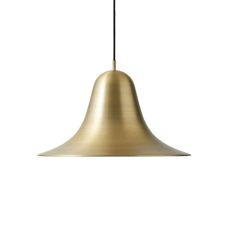Verpan Pantop Large Pendant Light in Brushed Brass by Verner Panton Olson and Baker - Designer & Contemporary Sofas, Furniture - Olson and Baker showcases original designs from authentic, designer brands. Buy contemporary furniture, lighting, storage, sofas & chairs at Olson + Baker.