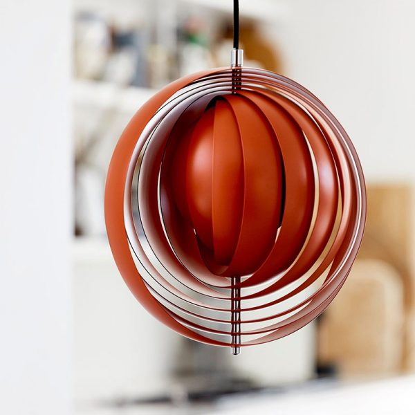 Moon Pendant Light in Orange