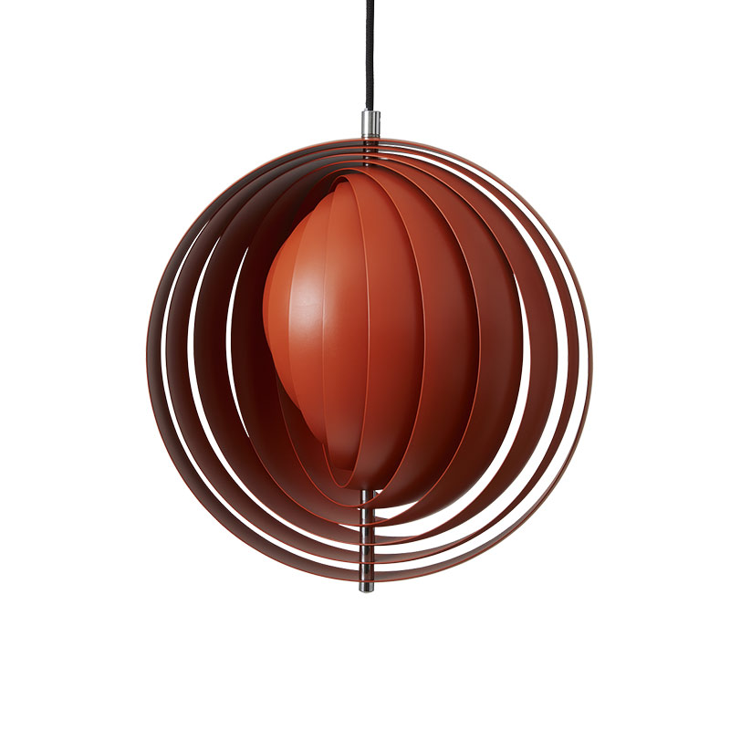 Verpan Moon Pendant Light in Orange by Verner Panton
