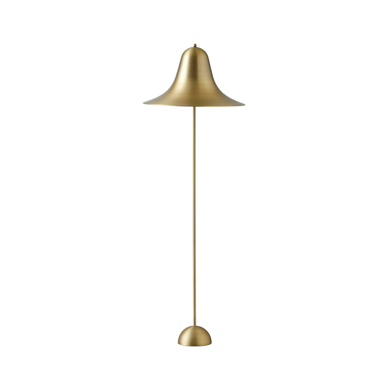 Verpan Pantop Floor Lamp in Brass by Verner Panton