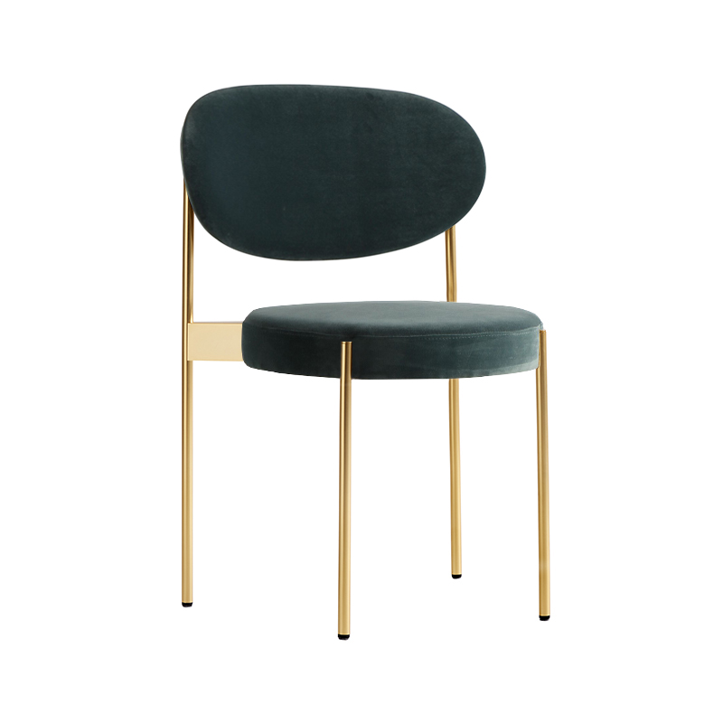 Verpan Series 430 Chair with Brass Frame by Verner Panton
