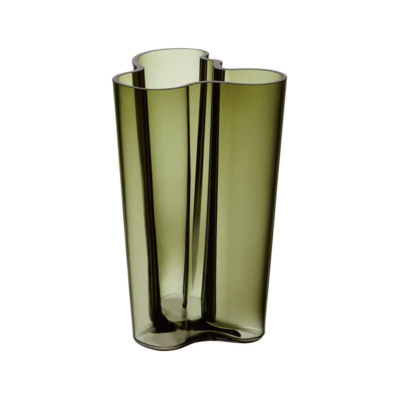 Iittala Aalto 251mm Glass Vase by Alvar Aalto