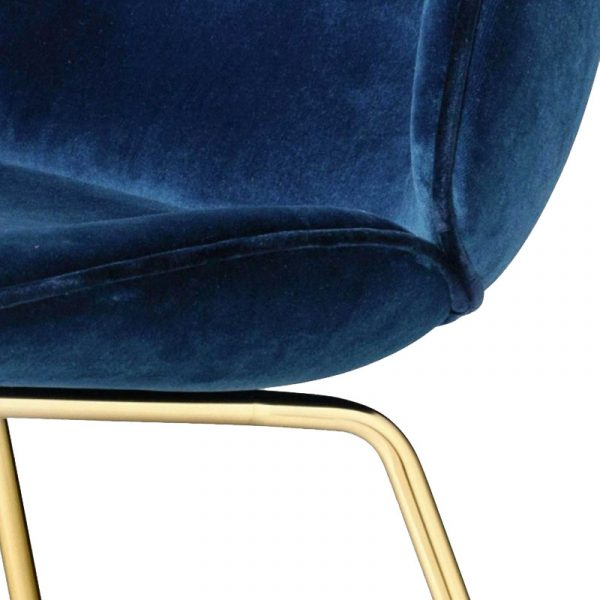 Beetle Fully Upholstered Stackable Dining Chair