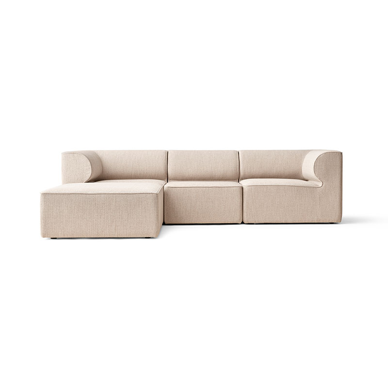 Menu Eave Modular Three Seat Sofa with Pouf Chaise by Norm Architects