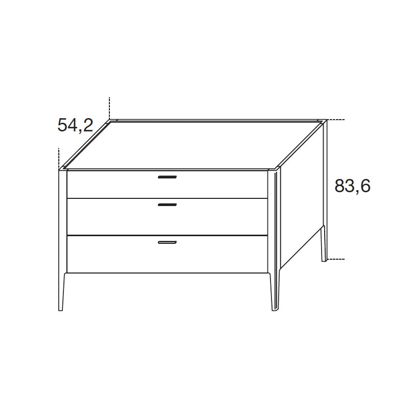 Baird Chest Of Three Drawers by Olson and Baker Ortho 01