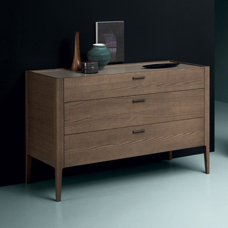 Baird Tallboy With Five Drawers by Olson and Baker Lifeshot 01 Olson and Baker - Designer & Contemporary Sofas, Furniture - Olson and Baker showcases original designs from authentic, designer brands. Buy contemporary furniture, lighting, storage, sofas & chairs at Olson + Baker.