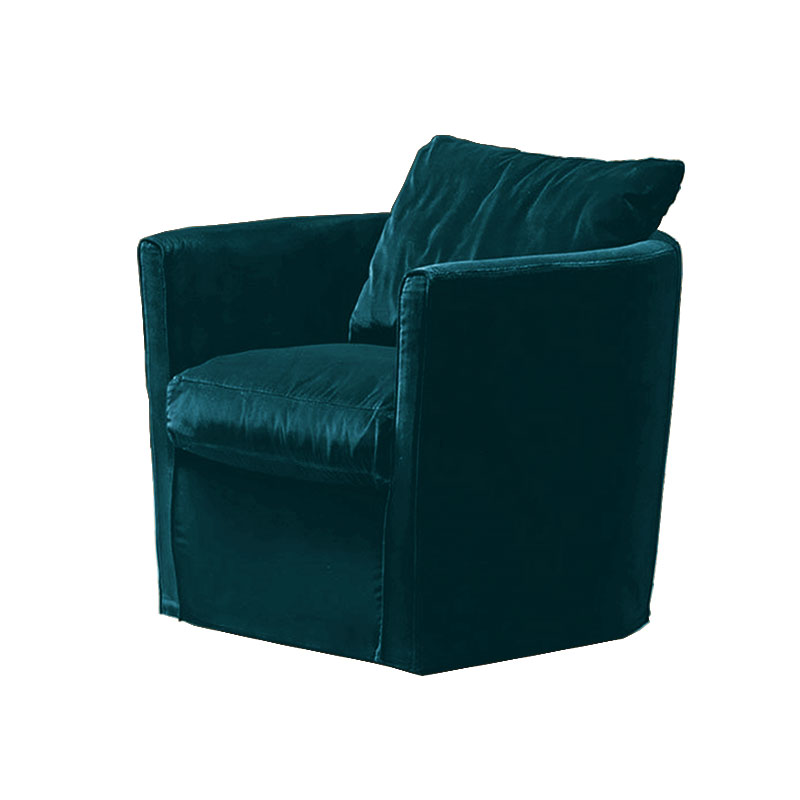 Olson and Baker Bernoulli Lounge Chair in Velvet by Olson and Baker Studio