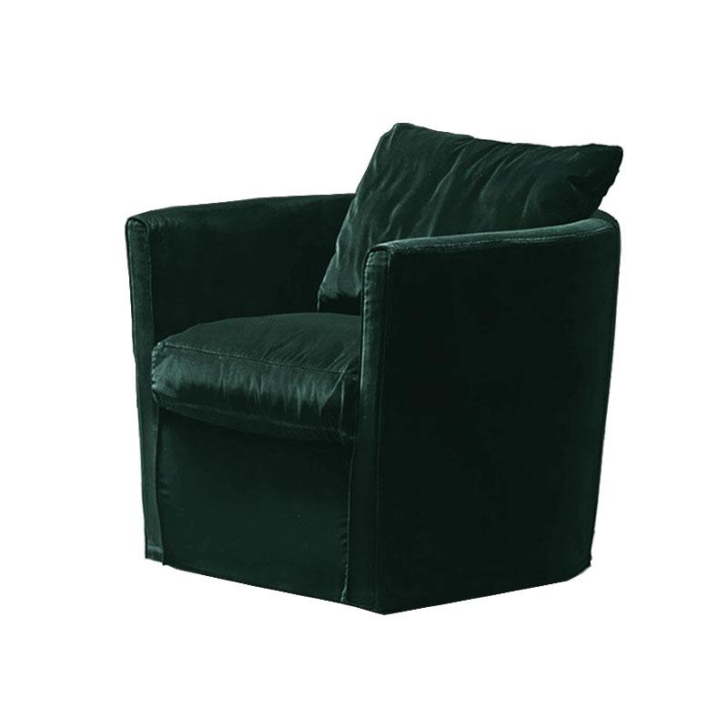 Olson and Baker Bernoulli Lounge Chair in Velvet by Olson and Baker Studio