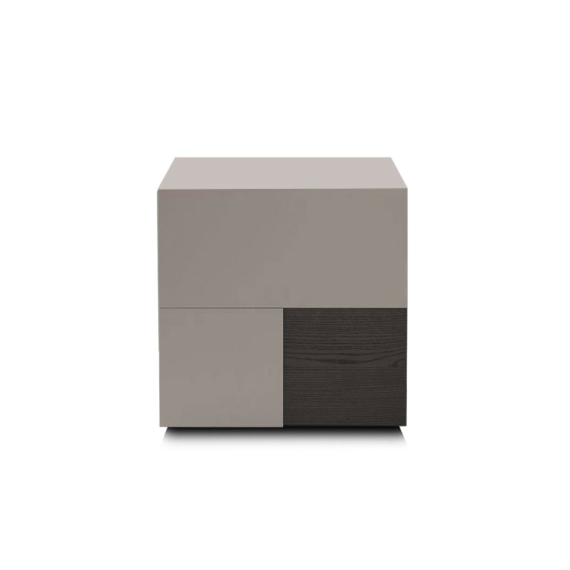 Olson and Baker Burnell Bedside Table with Two Drawers by Olson and Baker Studio