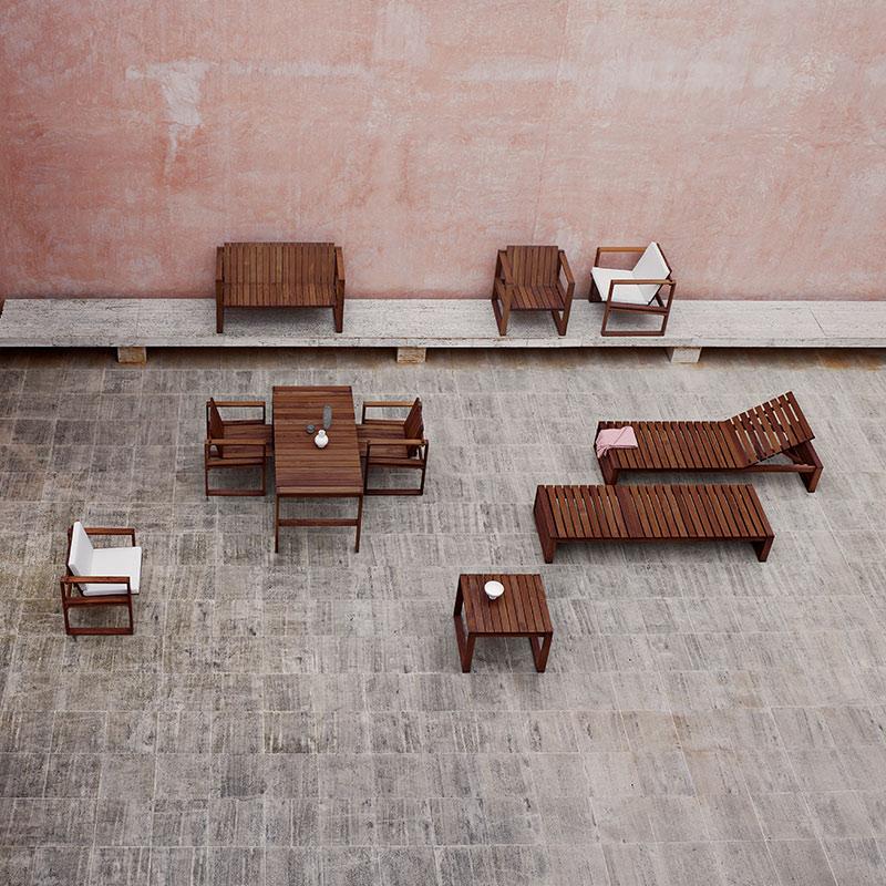 Carl Hansen BK12 Outdoor Two Seat Lounge Sofa life 1