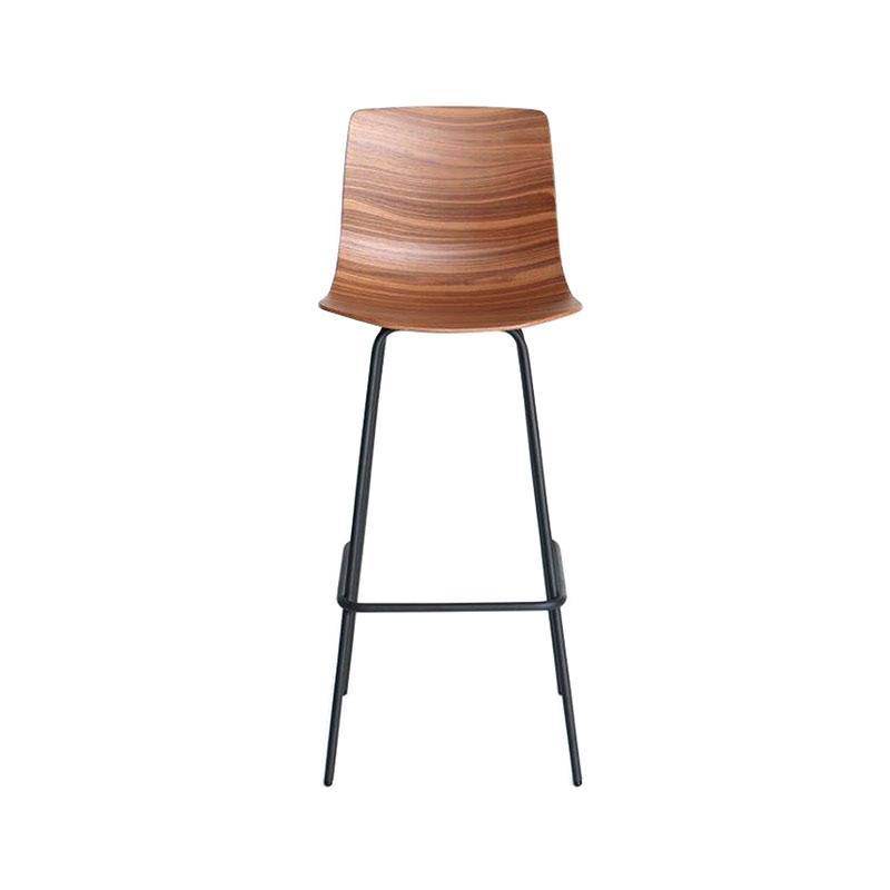 Case Furniture Loku High Bar Stool by Shin Azumi Walnut Black legs