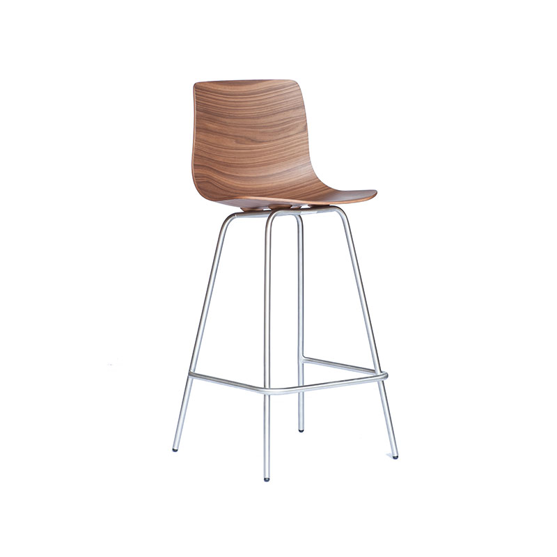Case Furniture Loku Counter Stool with Tubular Base by Shin Azumi Olson and Baker - Designer & Contemporary Sofas, Furniture - Olson and Baker showcases original designs from authentic, designer brands. Buy contemporary furniture, lighting, storage, sofas & chairs at Olson + Baker.