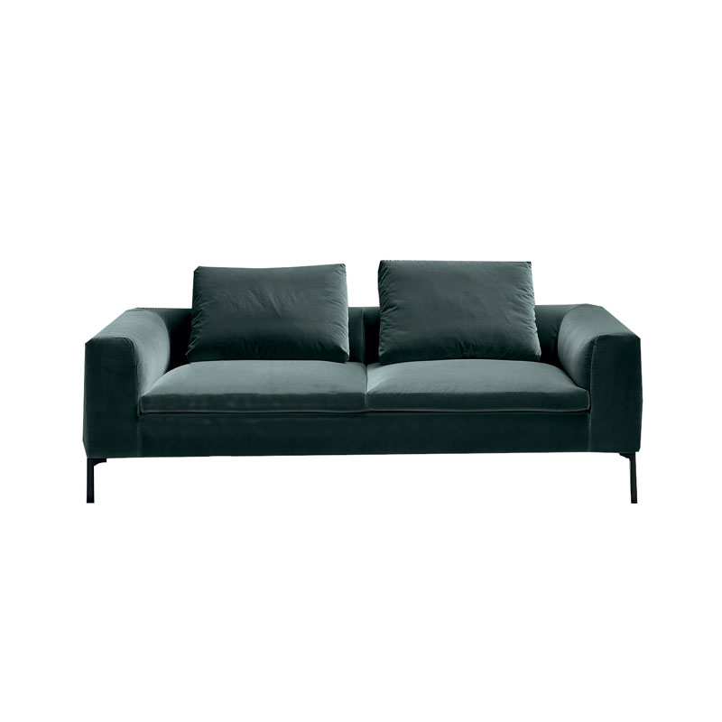 Olson and Baker Cockcroft Two Seat Sofa in Velvet by Olson and Baker Studio