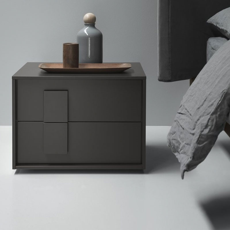 Crick Bedside Table with Two Drawers by Olson and Baker Lifeshot 01
