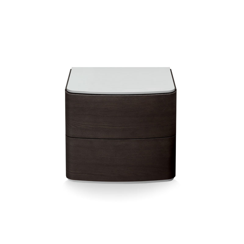 Olson and Baker Dalton Bedside Table with Two Drawers by Olson and Baker Studio
