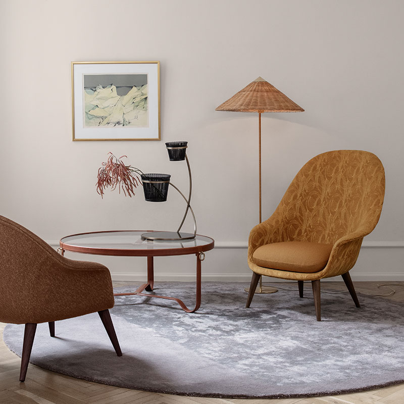 Gubi 9602 Floor Lamp by Paavo Tynell Wicker life 1