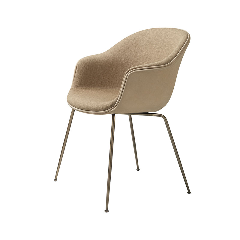 Gubi Bat Fully Upholstered Dining Chair by GamFratesi