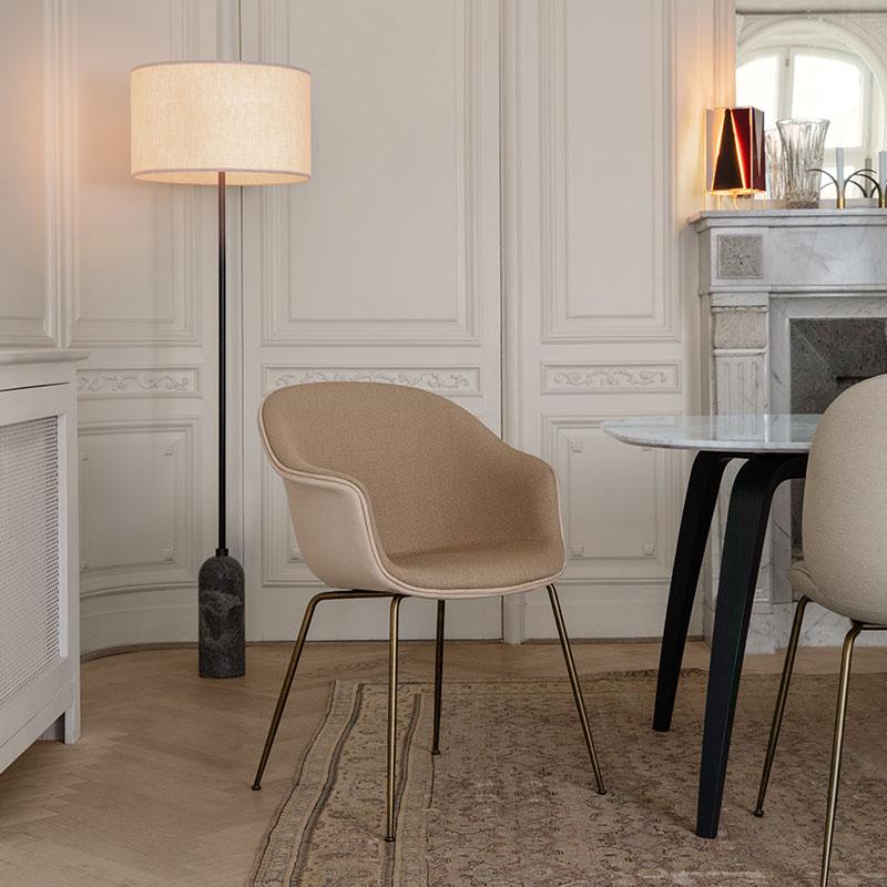 Gubi Bat Fully Upholstered Dining Chair by GamFratesi 2