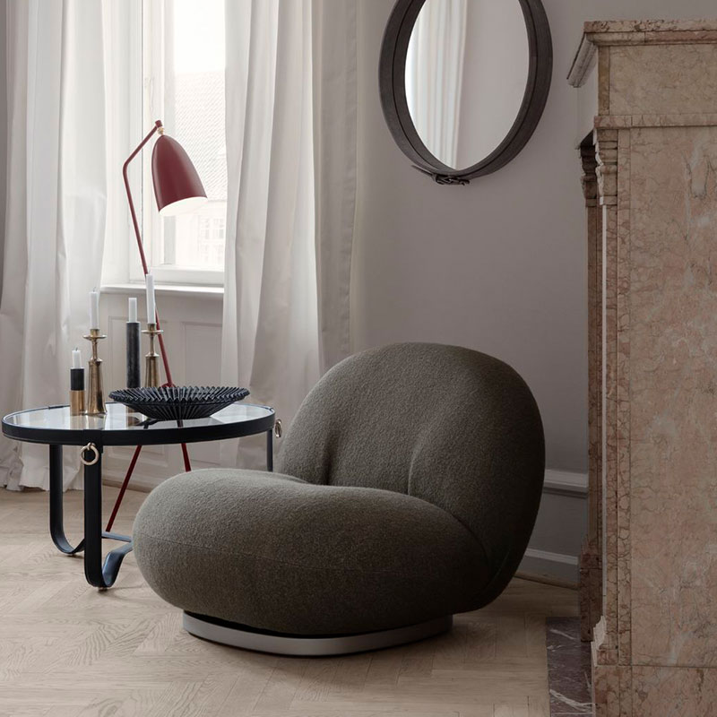 Gubi Pacha Fully Upholstered Lounge Chair by Pierre Paulin