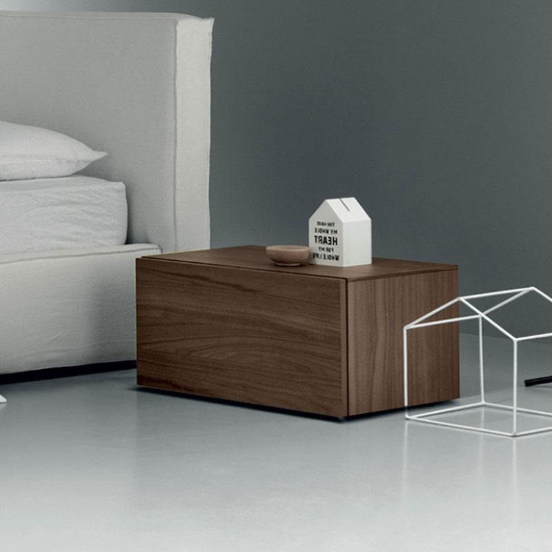 Herschel Bedside Table with Two Drawers by Olson and Baker Lifeshot 01 Olson and Baker - Designer & Contemporary Sofas, Furniture - Olson and Baker showcases original designs from authentic, designer brands. Buy contemporary furniture, lighting, storage, sofas & chairs at Olson + Baker.
