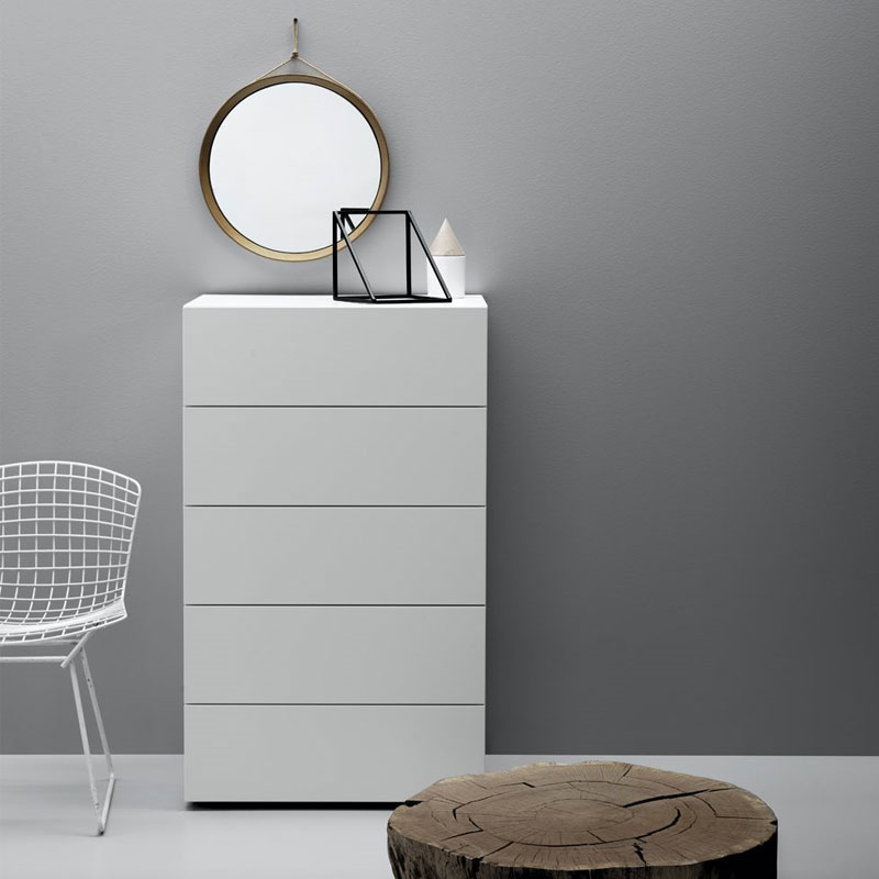Herschel Tallboy with Five Drawers by Olson and Baker Lifeshot 01 Olson and Baker - Designer & Contemporary Sofas, Furniture - Olson and Baker showcases original designs from authentic, designer brands. Buy contemporary furniture, lighting, storage, sofas & chairs at Olson + Baker.