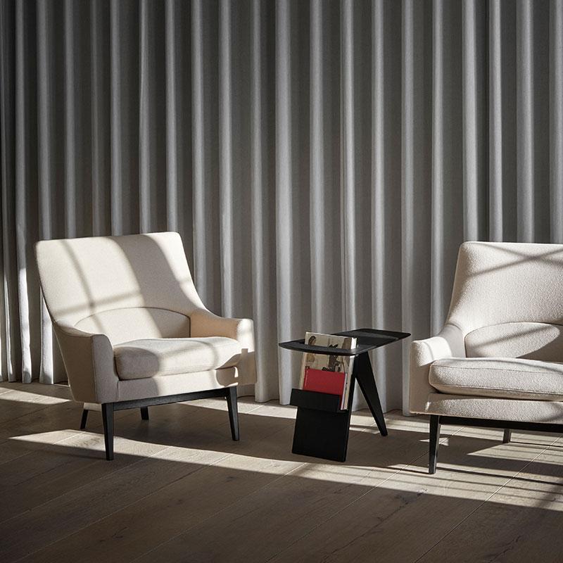 Fredericia A-Chair Lounge Chair Black Lifeshot