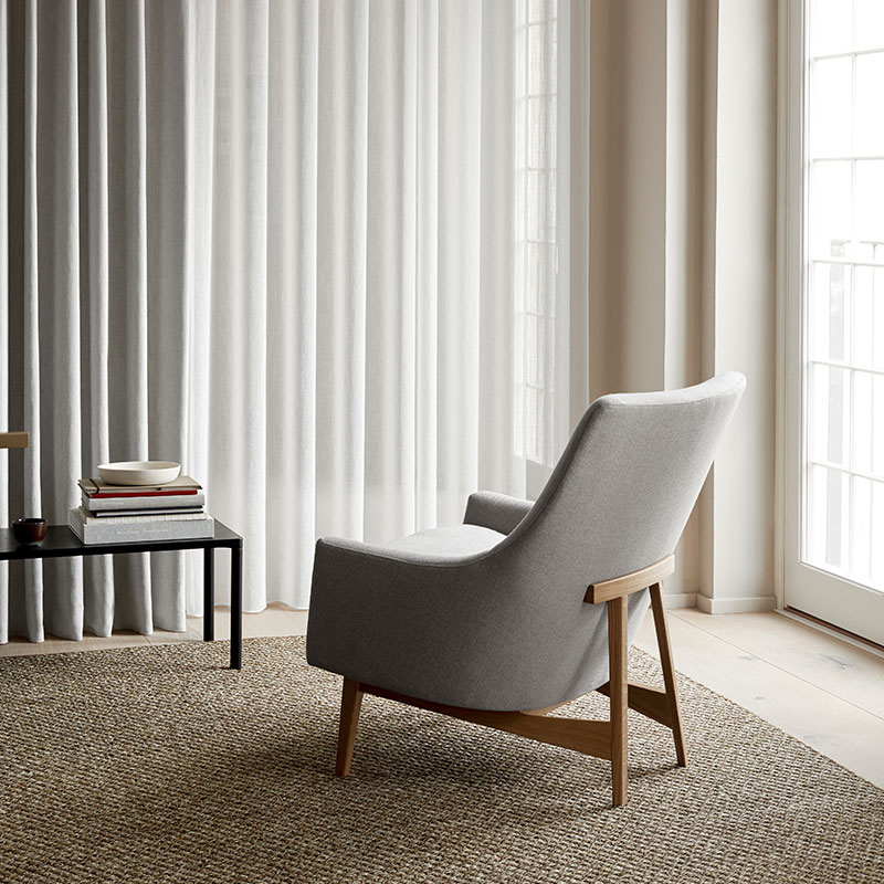 Fredericia A-Chair Lounge Chair Lacquered Oak Lifeshot
