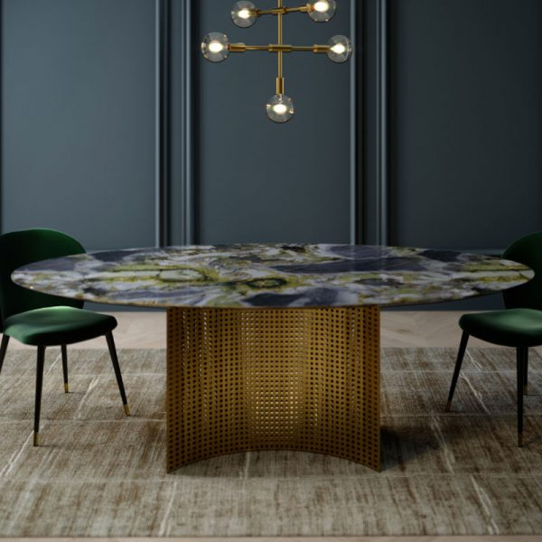 Lunette 220cm Oval Dining Table