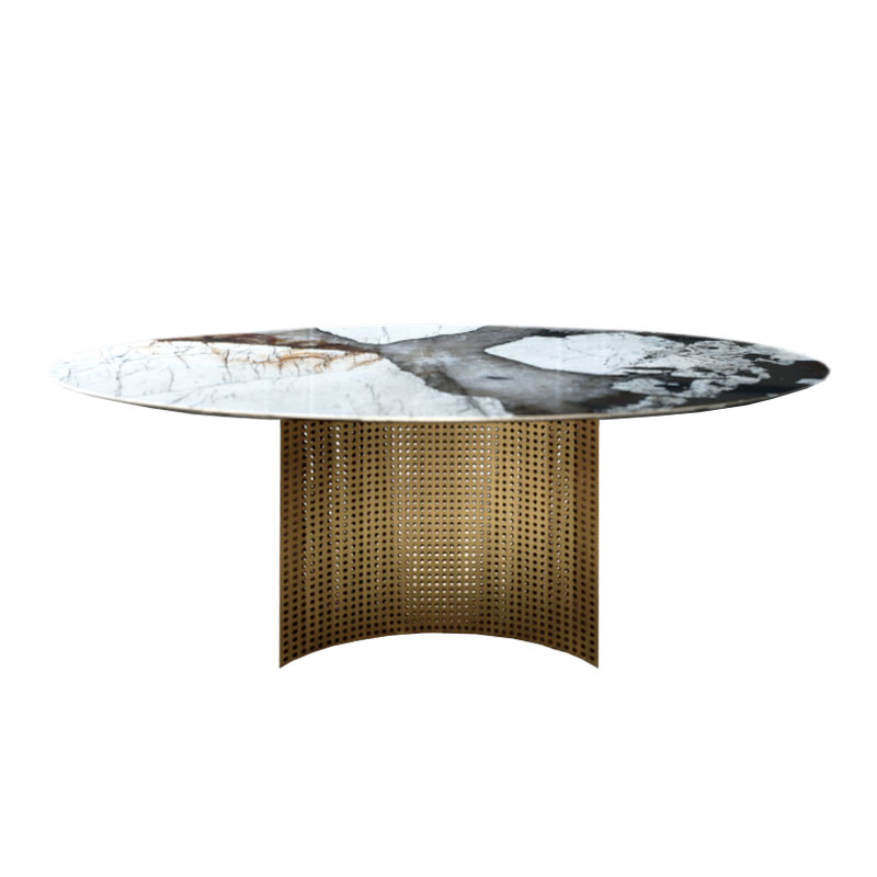 Alex Mint Lunette 220cm Oval Dining Table by Alexia Mintsouli